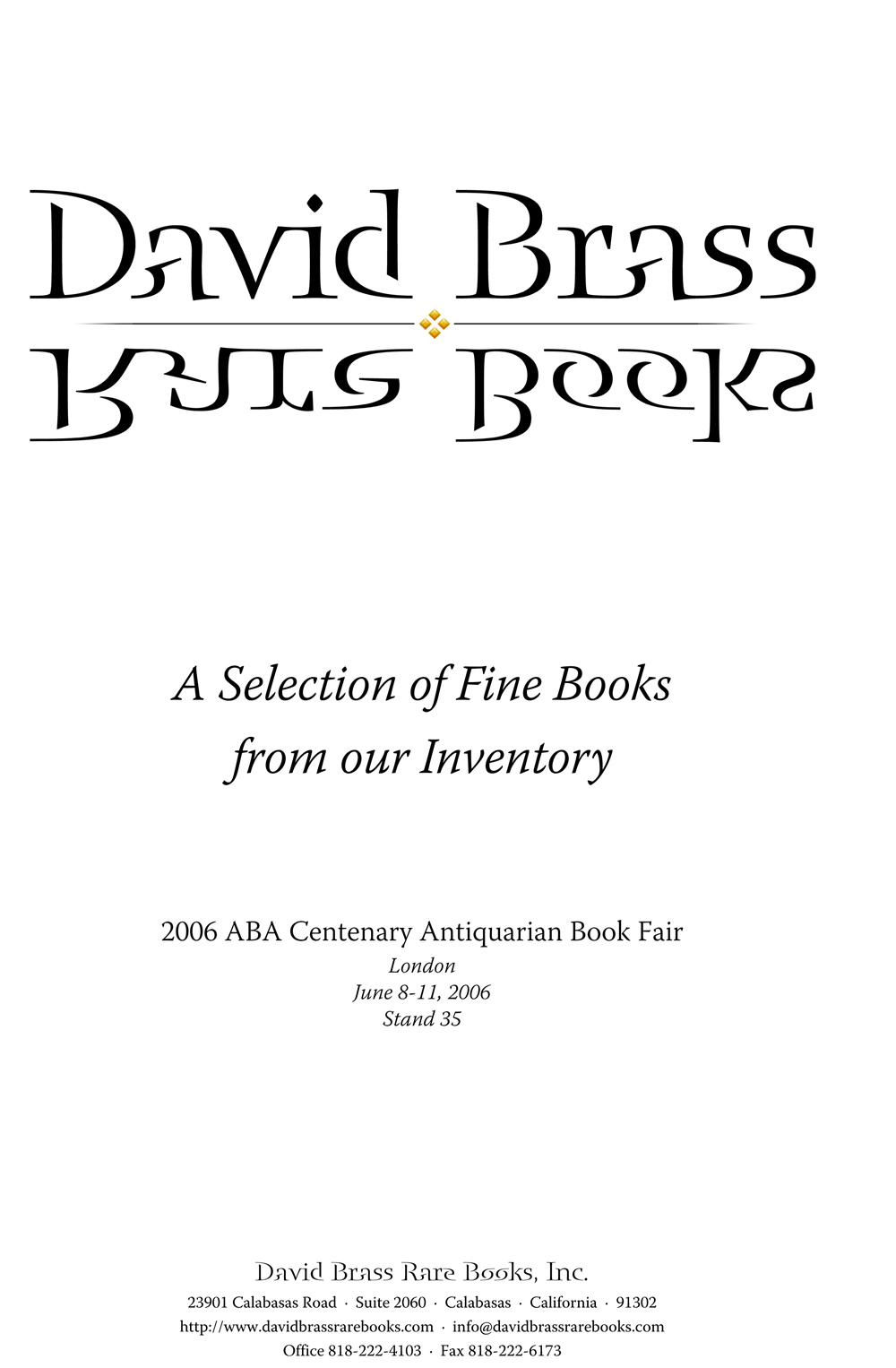 2006 ABA Centenary Antiquarian Book Fair