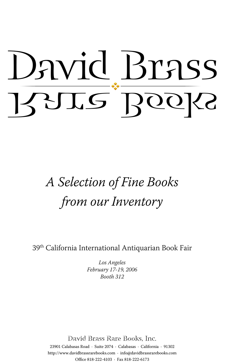 2006 The 39th California International Antiquarian Book Fair