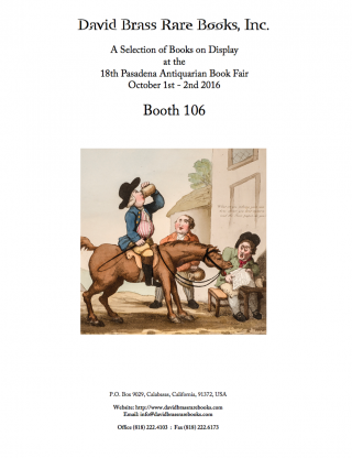 2016 Pasadena Antiquarian Book Fair