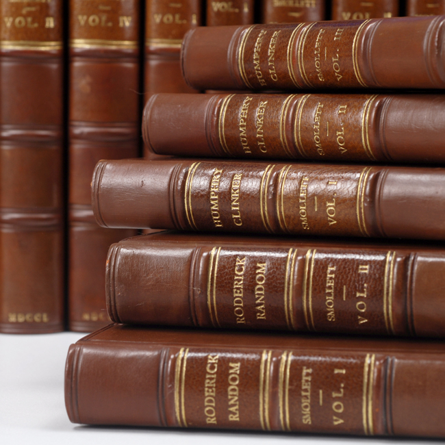 SMOLLETT, TOBIAS; RIVIÈRE & SON - Collection of First Editions of Smollett's Works