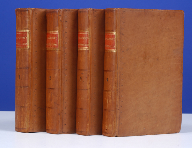 BLACKSTONE, SIR WILLIAM - Commentaries on the Laws of England