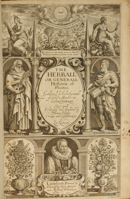 GERARD, JOHN - Herball or Generall Historie of Plantes, the