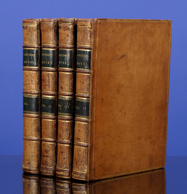 ADDISON, JOSEPH; [BASKERVILLE, JOHN] - Works of the Late Right Honorable Joseph Addison, the