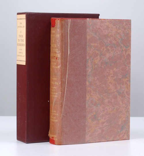 BOSWELL, JAMES; JOHNSON, SAMUEL; [LIMITED EDITIONS CLUB] - Journal of a Tour to the Hebrides with Samuel Johnson. Lld. , the