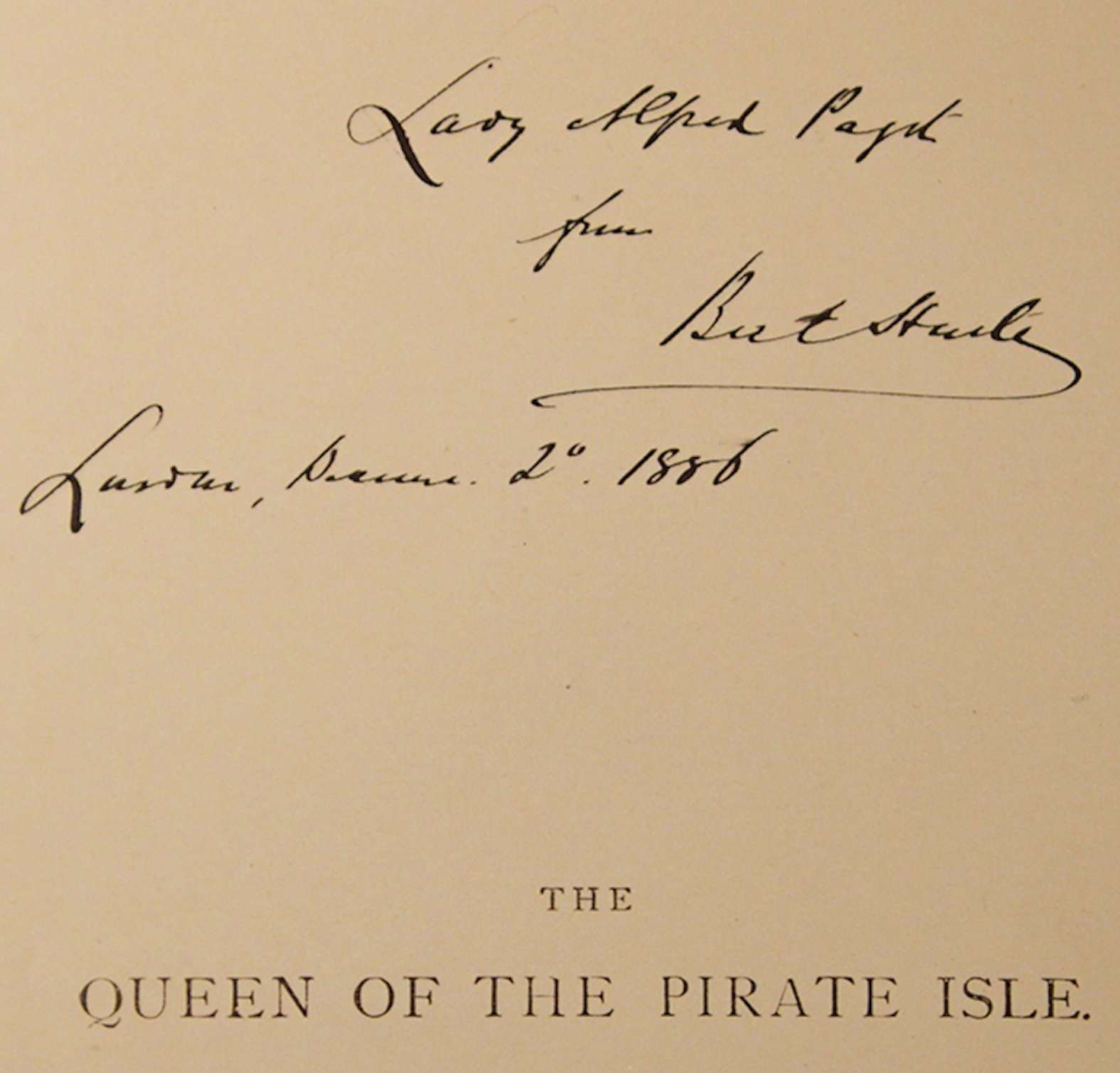 GREENAWAY, KATE, ILLUSTRATOR; HARTE, BRET - Queen of the Pirate Isle, the