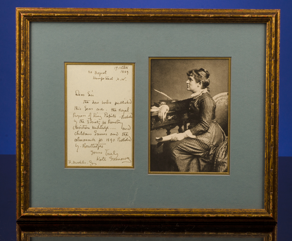 GREENAWAY, KATE - [Autograph Letter Signed]