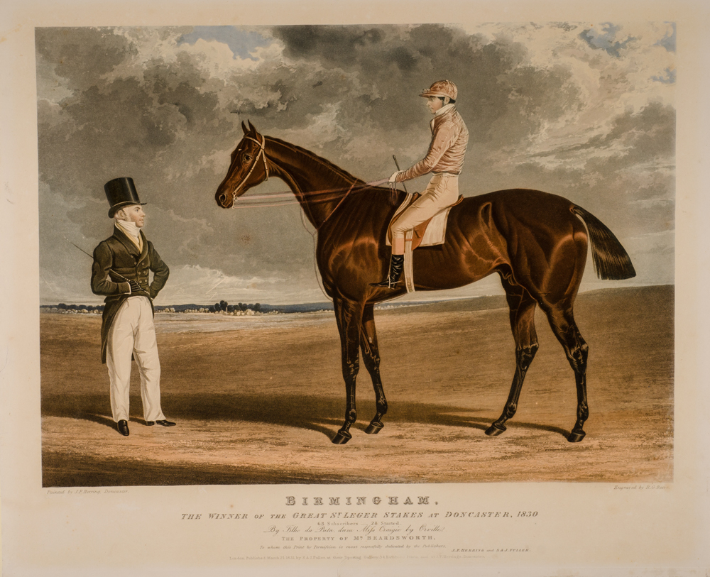 HERRING, JOHN FREDERICK - Portraits of the Winning Horses of the Great St. Leger Stakes at Doncaster