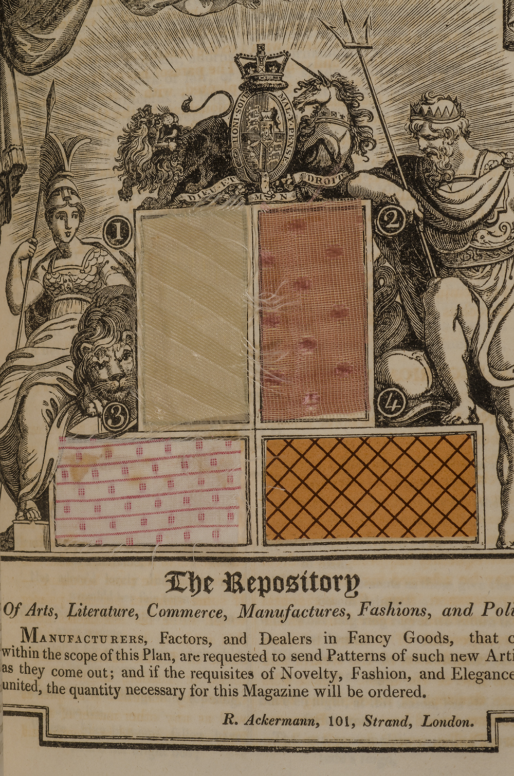 ACKERMANN, RUDOLPH - Repository of Arts, Literature, Commerce, Manufactures, Fashions, and Politics, the