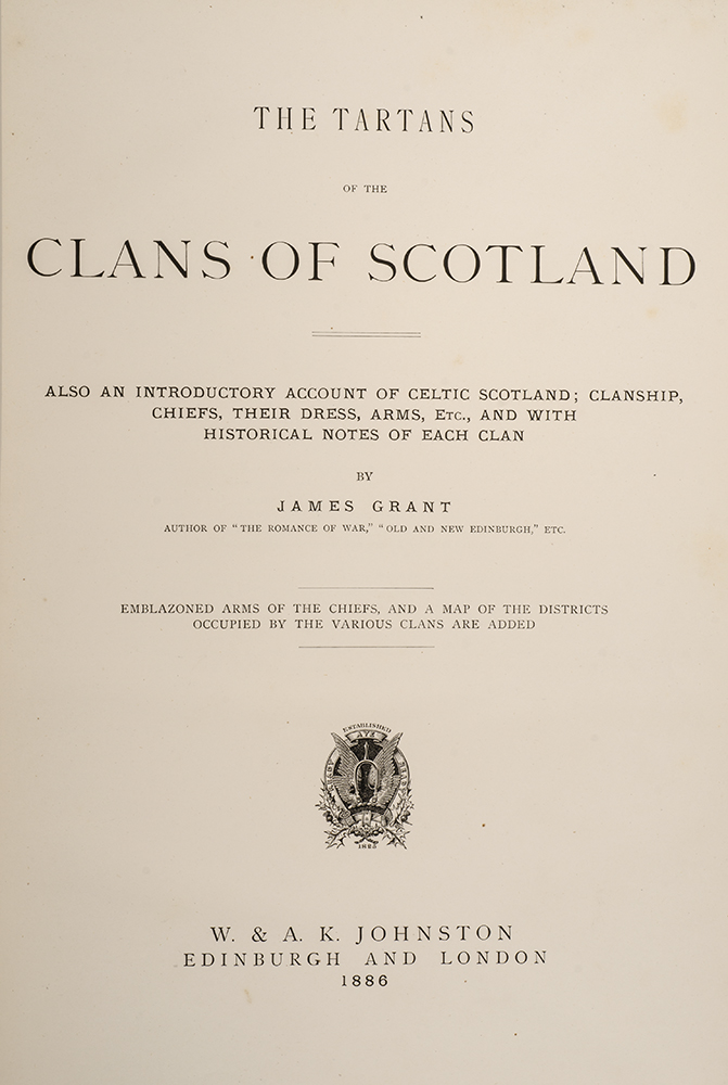 Tartans of the Clans of Scotland, The | James GRANT