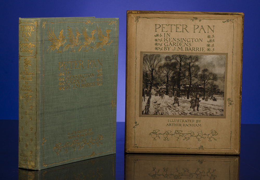 RACKHAM, ARTHUR, ILLUSTRATOR; BARRIE, J.M. - Peter Pan in Kensington Gardens