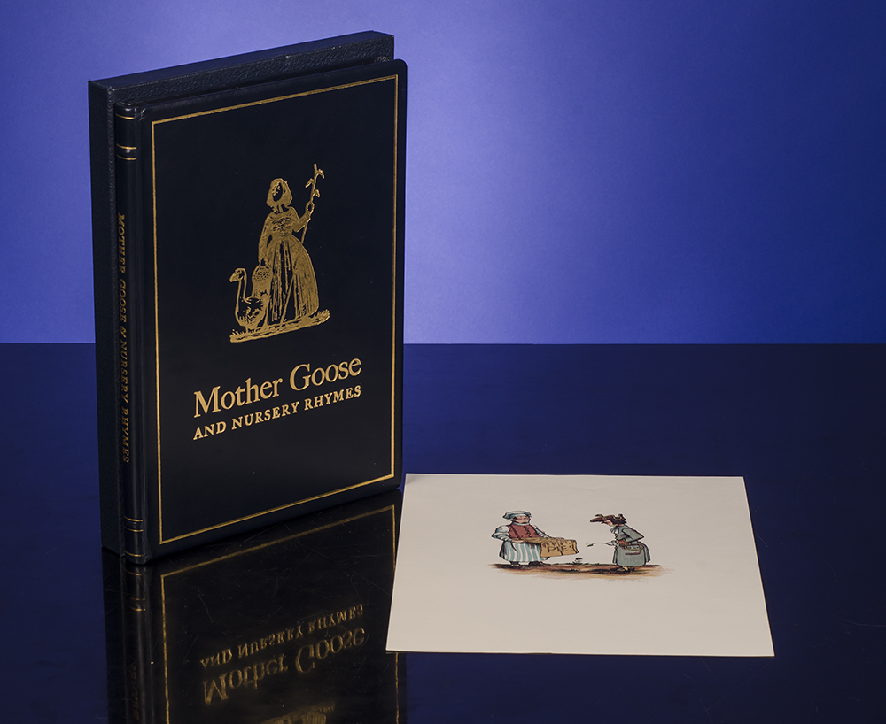 REED, PHILIP; MONASTERY HILL BINDERY, BINDERS - Mother Goose and Nursery Rhymes