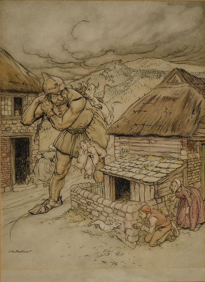 RACKHAM, ARTHUR, ARTIST - The Giant Cormoran Was the Terror of All the Country-Side