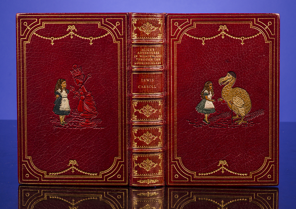 RIVIÈRE & SON, BINDERS; CARROLL, LEWIS; TENNIEL, JOHN, ILLUSTRATOR - Alice's Adventures in Wonderland [Bound Together with] Through the Looking-Glass and What Alice Found There
