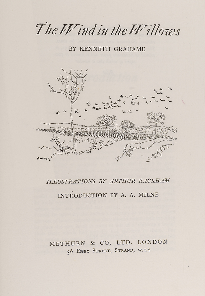 RACKHAM, ARTHUR; GRAHAME, KENNETH - The Wind in the Willows