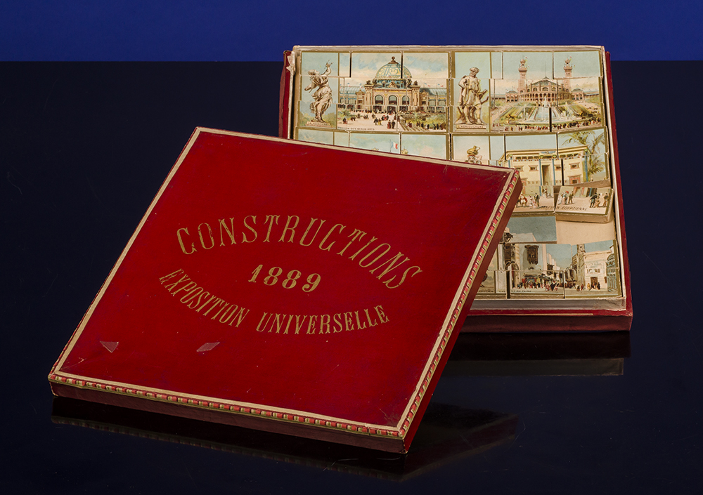 PARIS EXPOSITION UNIVERSELLE; WOODEN GAME - Constructions Exposition Universelle 1889