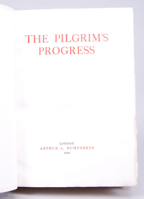 Pilgrim's Progress, The. John BUNYAN, Bayntun.