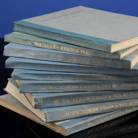 Walpole Society. Annual Volumes 1 - 26, The. The WALPOLE SOCIETY.