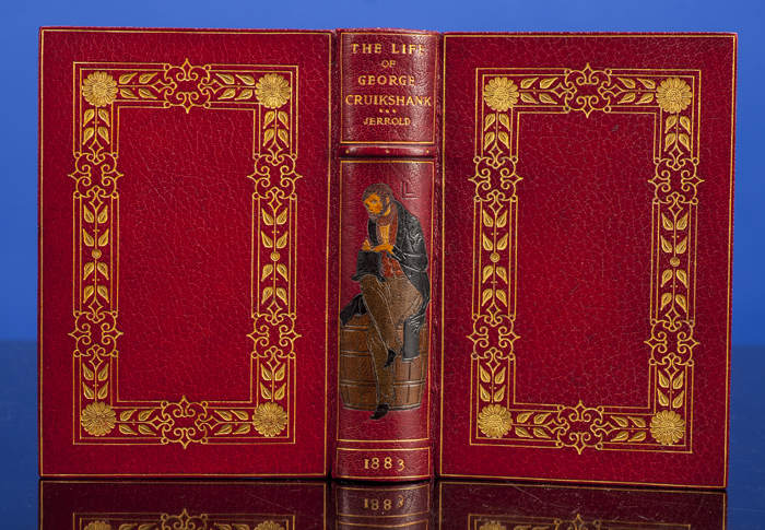 Life of George Cruikshank, The. KELLIEGRAM BINDING, George CRUIKSHANK, illustrator, Blanchard JERROLD.