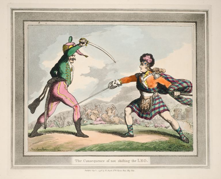 Hungarian & Highland Broad Sword. Thomas ROWLANDSON.
