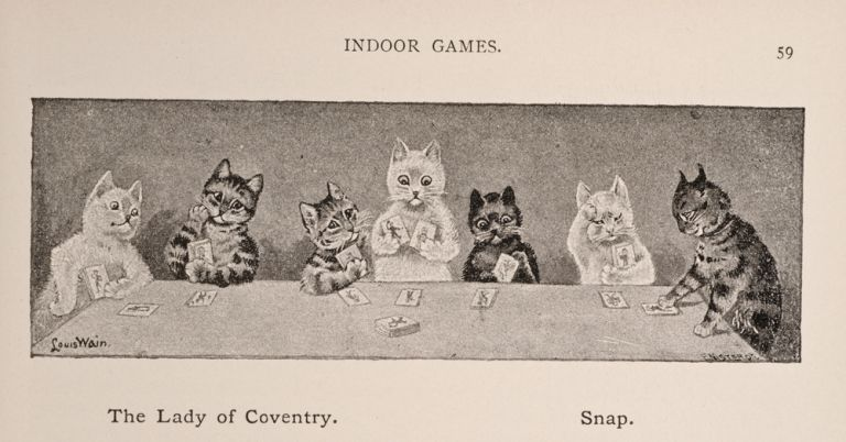 Games Book for Boys and Girls, The. Louis WAIN, illustrator.