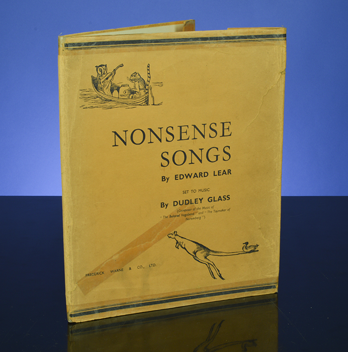 Nonsense Songs. Edward LEAR, Dudley GLASS.