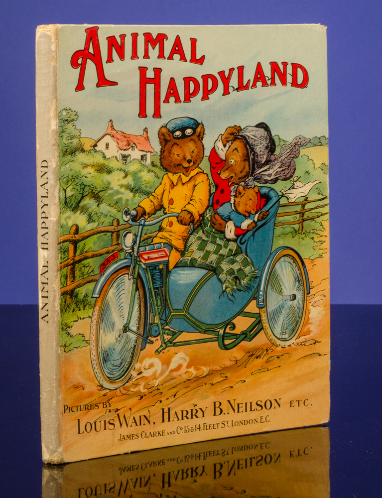 Animal Happyland. Louis WAIN, illustrator, A. W. RIDLER.