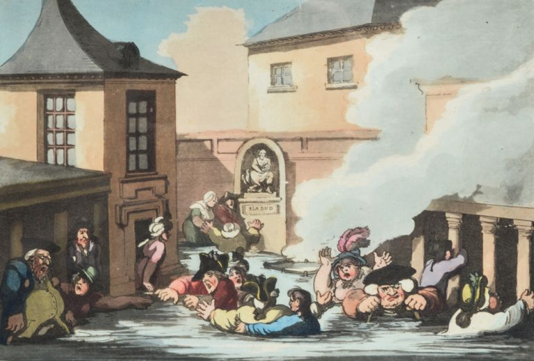Comforts of Bath, The. Thomas ROWLANDSON.