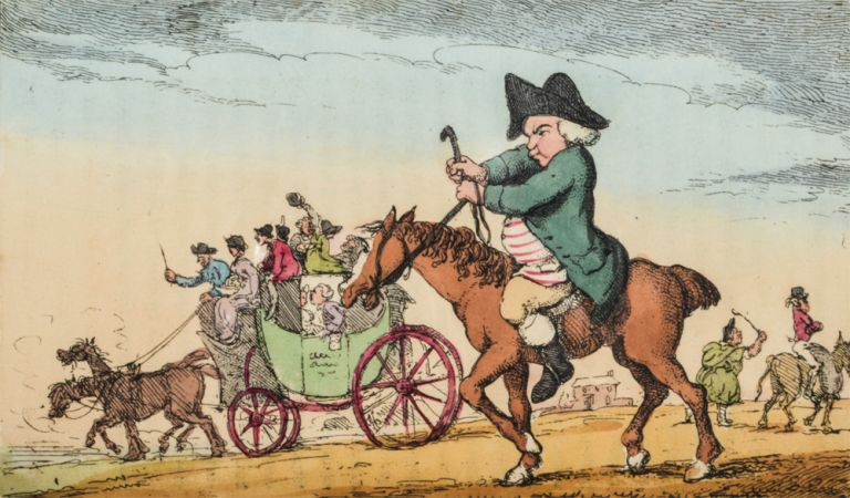 Academy for Grown Horsemen, An. Thomas ROWLANDSON, Henry BUNBURY, Geoffrey GAMBADO.