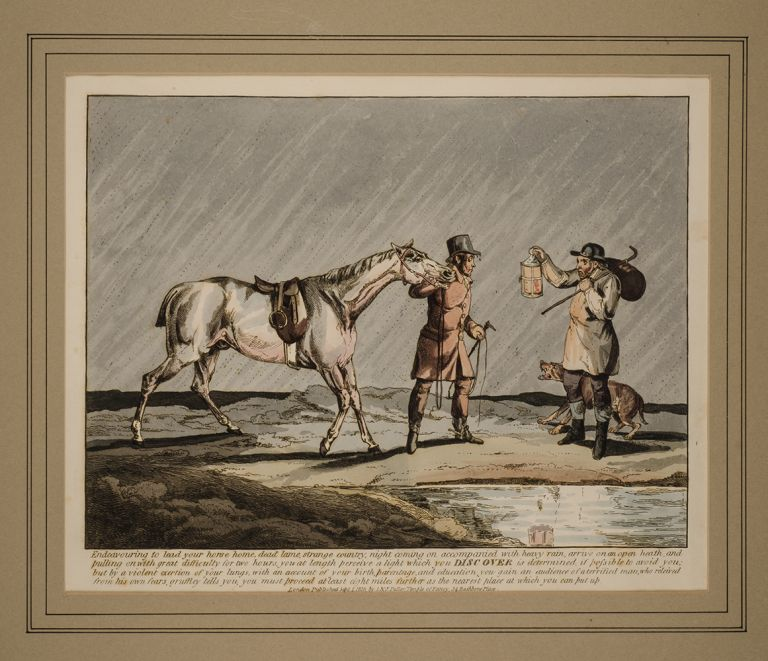 Sporting Discoveries or The Miseries of Hunting in a series of seven plates, Henry ALKEN.