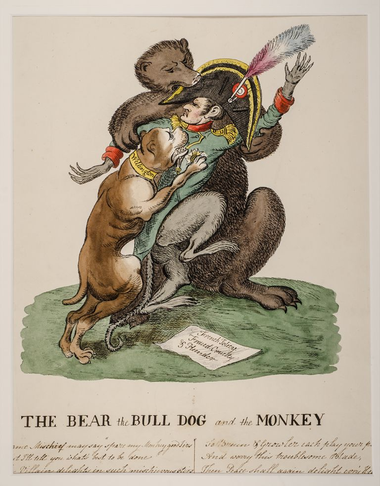 The Bear the Bull Dog and the Monkey. William HEATH, after.