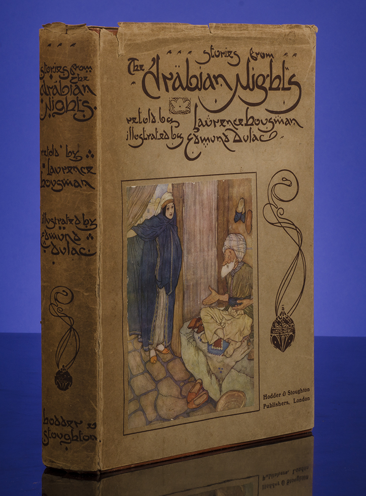 Stories From the Arabian Nights. Edmund DULAC, illustrator, Laurence HOUSMAN, ARABIAN NIGHTS.