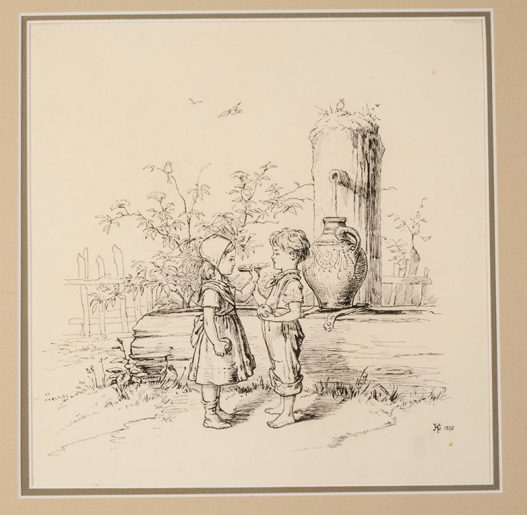 """""""Happiness"""" and """"Dismay"""" Kate GREENAWAY, In the style of."""