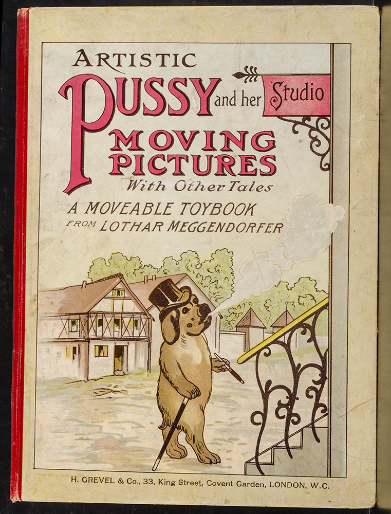 Artistic Pussy and Her Studio. MOVABLE BOOK, Lothar MEGGENDORFER.