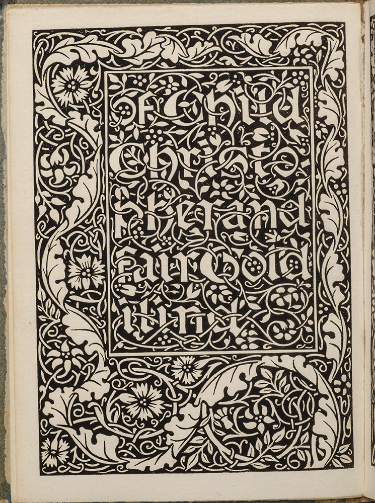Child Christopher and Goldilind the Fair. KELMSCOTT PRESS, William MORRIS.