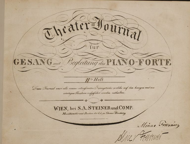 [Sammelband of Engraved Sheet Music for Voice and Piano. Ludwig van BEETHOVEN, Gioachino ROSSINI, George Frideric HANDEL.