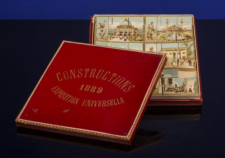 Constructions Exposition Universelle 1889. PARIS EXPOSITION UNIVERSELLE, WOODEN GAME.