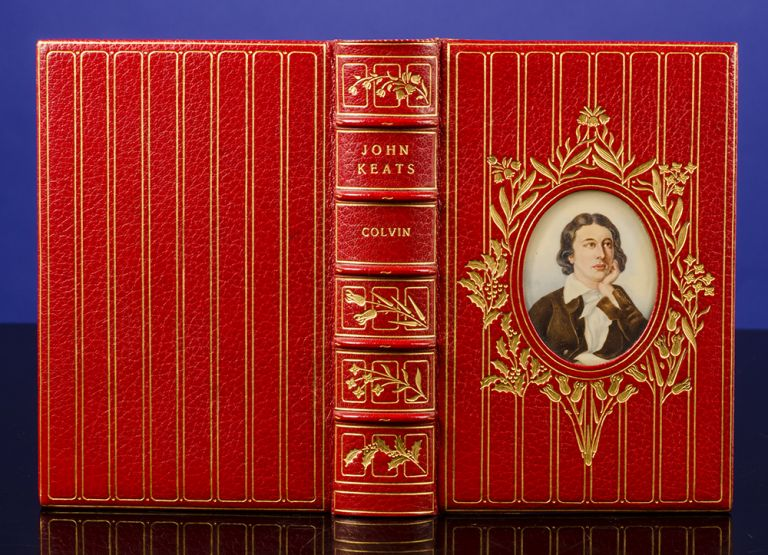 John Keats, His Life and Poetry, His Friends Critics and After-Fame. COSWAY-STYLE BINDING, binders BAYNTUN RIVIÈRE, John KEATS, Sidney COLVIN.