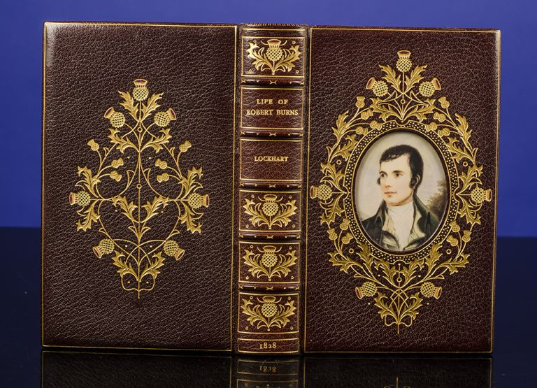 Life of Robert Burns. COSWAY-STYLE BINDING, Robert BURNS, J. G. LOCKHART, binders BAYNTUN RIVIÈRE.