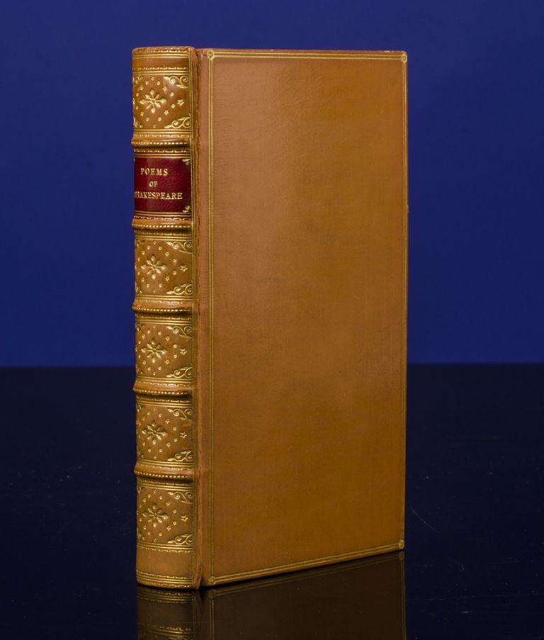 Poems of Shakespeare, The. William SHAKESPEARE, binder MORRELL, publisher PICKERING.