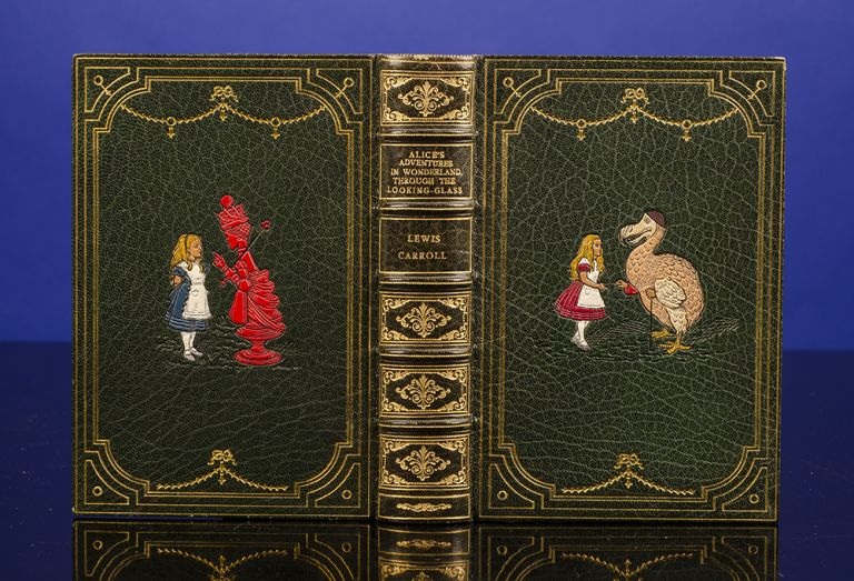 Alice's Adventures in Wonderland [bound together with] Through the Looking-Glass And What Alice Found There. RIVIÈRE, binders SON, Lewis CARROLL, John TENNIEL.