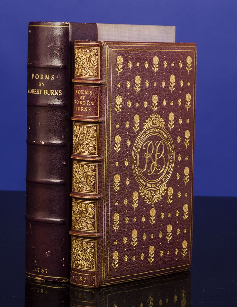 Poems. COSWAY-STYLE JEWELED BINDING, SANGORSKI, binders SUTCLIFFE, Robert BURNS.