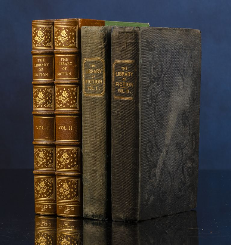 Library of Fiction or Family Story-Teller; The. Charles DICKENS, contributor, Robert SEYMOUR, Robert William BUSS.