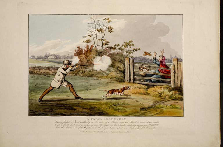 Sporting Discoveries, or The Miseries of Shooting in a series of seven plates, being hints to young sportsmen by Ben Tally-Ho. Henry ALKEN.