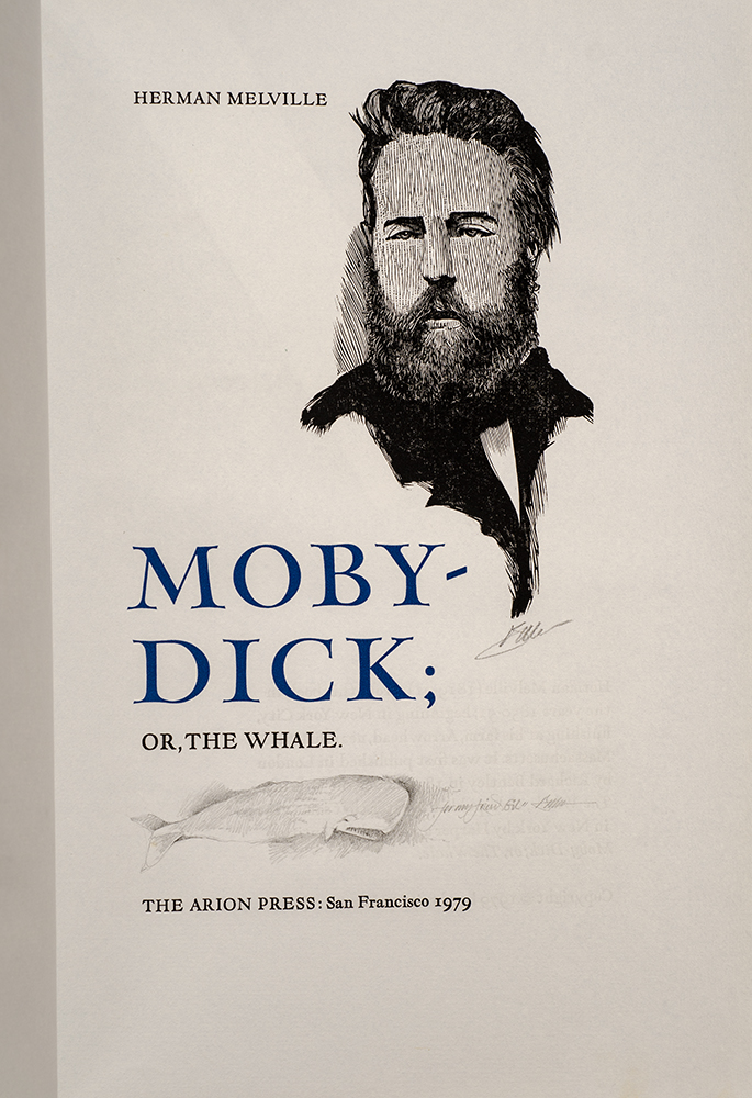 Moby-Dick; or, The Whale. ARION PRESS, Herman MELVILLE, Barry MOSER.