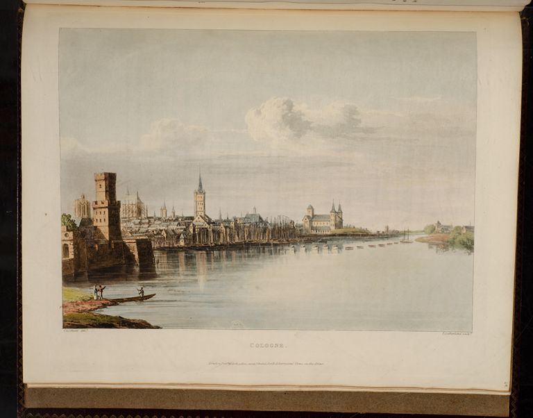 Picturesque Tour along the Rhine, from Mentz to Cologne…, A. J. J. von GERNING, Johann Isaac.