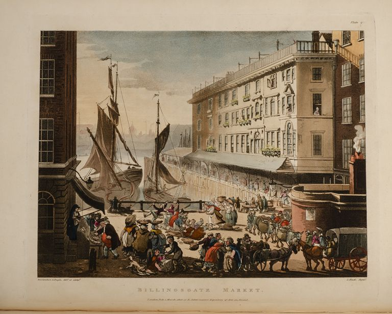 Microcosm of London; or, London in Miniature, The. Rudolph ACKERMANN, William COMBE, Augustus PUGIN, Thomas ROWLANDSON.