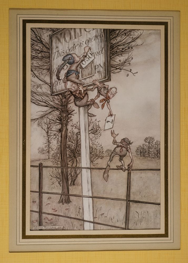 """""""These tricky fairies sometimes slyly change the board on a ball night"""" Arthur RACKHAM, J. M. BARRIE."""