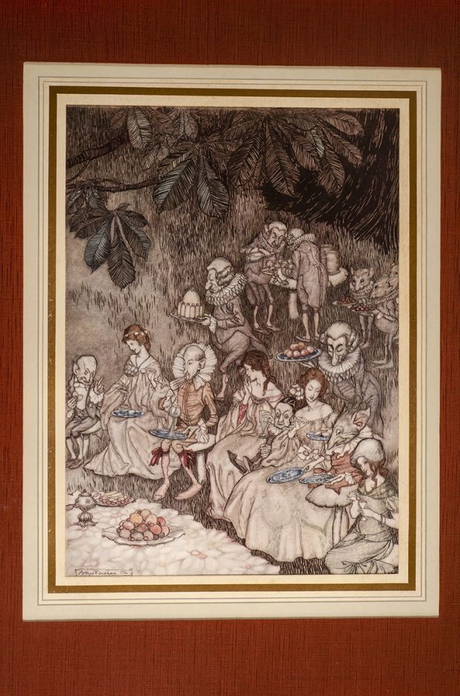 """""""The fairies sit round on mushrooms, and at first they are well behaved"""" Arthur RACKHAM, J. M. BARRIE."""
