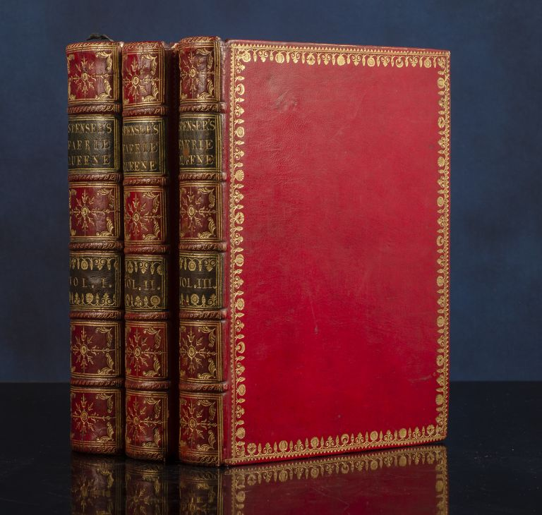 Faerie Queene, The. With an exact Collation of the Two Original Editions, Published by Himself at London in Quarto; the Former containing the first Three Books printed in 1590, and the Latter the Six Books in 1596. Edmund SPENSER, John BRINDLEY, binder, Thomas BIRCH, William KENT.