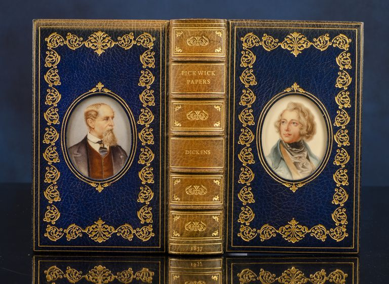 Posthumous Papers of the Pickwick Club, The. COSWAY-STYLE BINDING, binders BAYNTUN-RIVIÈRE, Charles DICKENS.